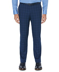 Men's Portfolio Slim-Fit Stretch  Windowpane Dress Pants