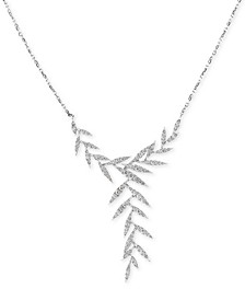 "EFFY® Diamond Leaf 20"" Statement Necklace (1-1/10 ct. t.w.) in 14k White Gold"