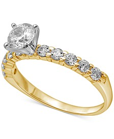 Diamond Engagement Ring (1 ct. t.w.) in 14k White or Yellow Gold