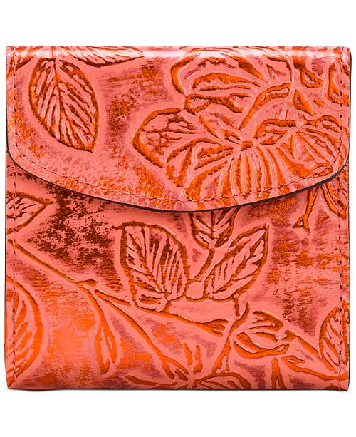 Patricia Nash Bark Leaves Rieti Leather Wallet