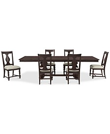 Rosemoor Rectangle Dining 7-Pc. Set, (Table & 6 Splat Back Side Chairs)