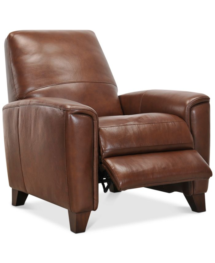 """Furniture Brayna 35"""" Leather Pushback Recliner, Created for Macy's & Reviews - Furniture - Macy's"""