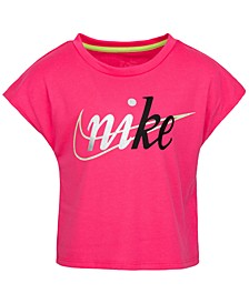Little Girls Metallic Logo Top