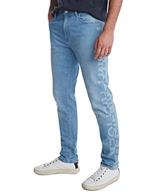 Men's Slim-Tapered Fit Stretch Logo Jeans