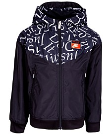 Little Boys Just Do It Hooded Windrunner Jacket