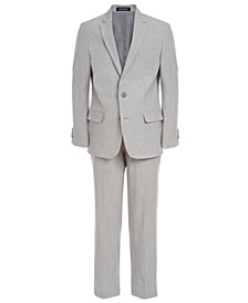 Big Boys 2-Pc. Gray Stretch Sharkskin Suit Set