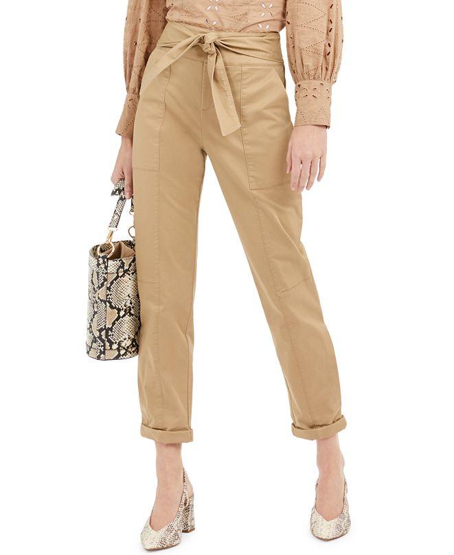 INC International Concepts INC Tie-Waist Utility Pants, Created for Macy's