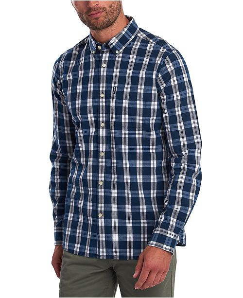 Barbour Men's Tailored-Fit Indigo Check Shirt