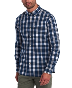 Barbour Men's Tailored-fit Indigo Check Shirt