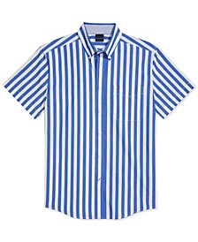 Men's Cooke Custom-Fit Stripe Shirt with Magnetic Buttons