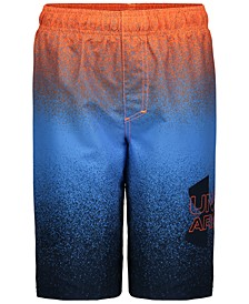 Big Boys Spray Logo Volley Swim Trunks