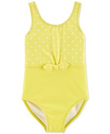 Little & Big Girls 1-Pc. Polka-Dot Bow Swimsuit