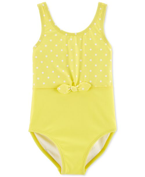 Carter's Little & Big Girls 1-Pc. Polka-Dot Bow Swimsuit