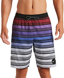 "Men's Stripe Breaker Water-Repellent Ombré 9"" Swim Trunks"