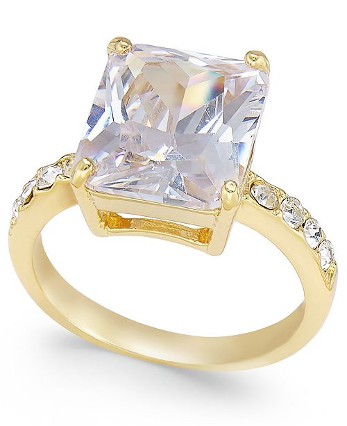 Charter Club Gold-Tone Large Stone Ring, Created for Macy's
