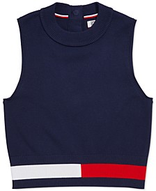 Women's Sleeveless Cropped Sweater, Created For Macy's