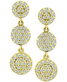 Cubic Zirconia Multi-Disc Drop Earrings in 18k Gold-Plated Sterling Silver, Created for Macy's