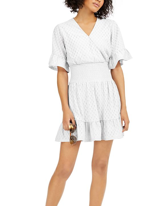 Michael Kors Eyelet Smocked Dress, in Regular and Petites