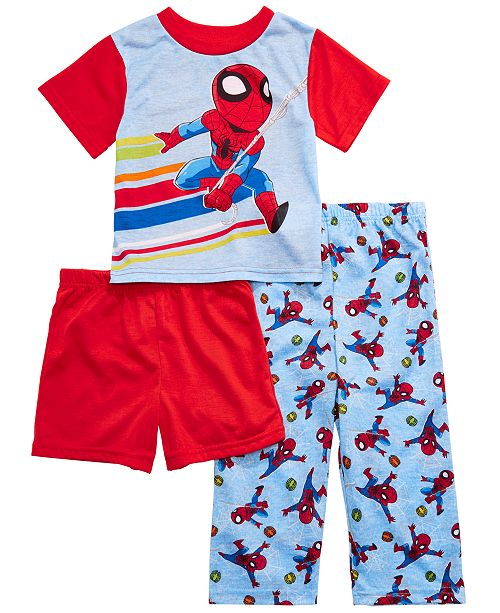 AME Toddler Boys 3-Pc. Spider-Man Pajama Set