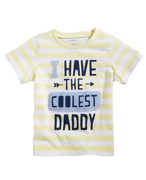 First Impressions Toddler Boys Coolest Daddy-Print Cotton T-Shirt, Created for Macy's