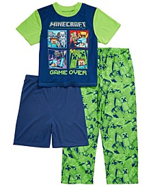 Little & Big Boys 3-Pc. Minecraft Pajama Set