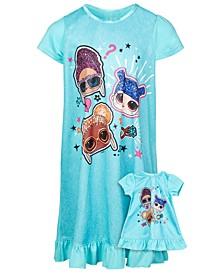 Little & Big Girls 2-Pc. Nightgown & Doll Nightgown Set