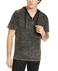 INC Men's Quarter-Zip Hooded T-Shirt, Created for Macy's