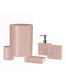 Cristal 5 Piece Bathroom Accessory Set