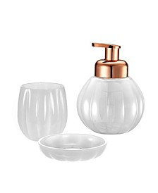 Pumpkin 3 Piece Bathroom Accessory Set