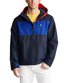 폴로 랄프로렌 Polo Ralph Lauren Mens Color-Blocked Hooded Jacket,Aviator Navy Multi