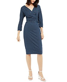 Estri Printed Wrap Dress