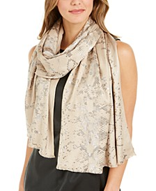 INC Snake-Print Foil Pashmina, Created for Macy's