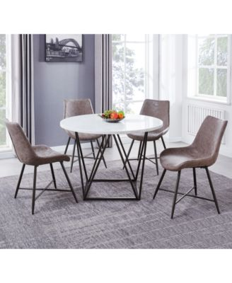 Ramona 5-Pc. Dining Set, (Round Table & 4 Side Chairs)
