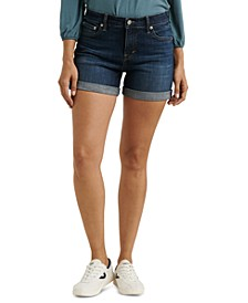 Ava Roll-Up Jean Shorts