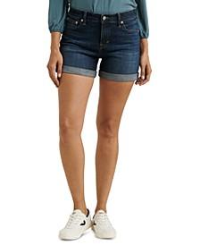 Ava Roll-Up Jean Shorts