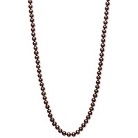 Macy's Dyed Chocolate Cultured Freshwater Pearl (5mm) 18