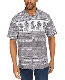 Men's Botanical Border Short Sleeve Camp Shirt