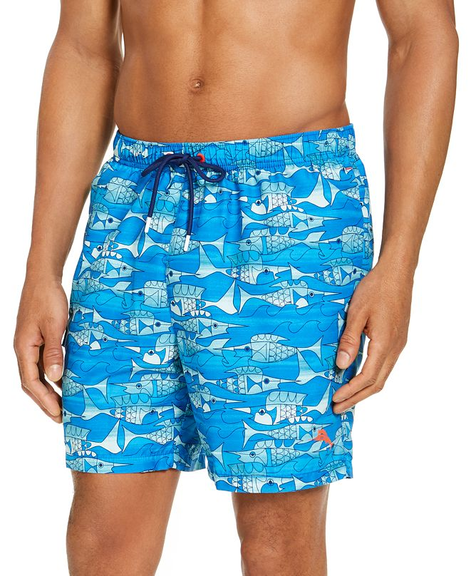 "Tommy Bahama Men's Naples Blue Fish Bay 6"" Swim Trunks"