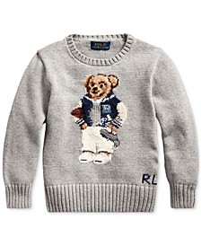 Little Boys Football Bear Cotton Sweater