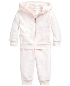 Baby Girls French Terry Hoodie & Pants Set