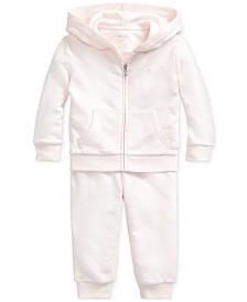 폴로 랄프로렌 여아용 후디 팬츠 세트 Polo Ralph Lauren Baby Girls French Terry Hoodie & Pants Set