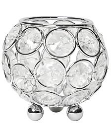 Elipse Crystal Circular Bowl Candle Holder, Flower Vase, Wedding Centerpiece