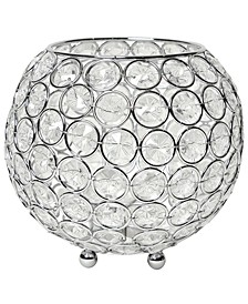 Elipse Crystal Circular Bowl Candle Holder, Flower Vase, Wedding Centerpiece