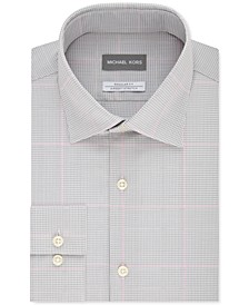 Men's Classic-Fit Performance Stretch Check Dress Shirt