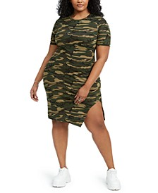 Trendy Plus Size Statement T-Shirt Dress, Created for Macy's
