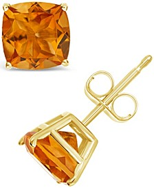 Citrine (3 ct. t.w.) Stud Earrings in 14K Yellow Gold. Also Available in Amethyst, Peridot and Garnet