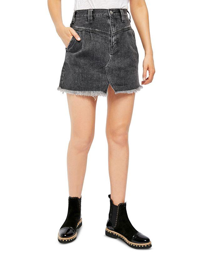 Free People Sidecar Mini Cotton Skirt