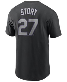 Men's Trevor Story Colorado Rockies Name and Number Player T-Shirt