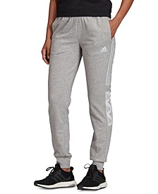 Women's Essentials Block-Logo Sweatpants