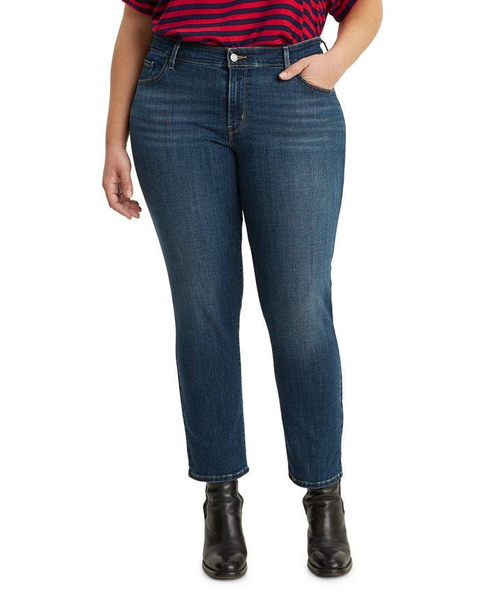Levi's - Juniors' Ripped Plus Size Skinny Ankle Jeans